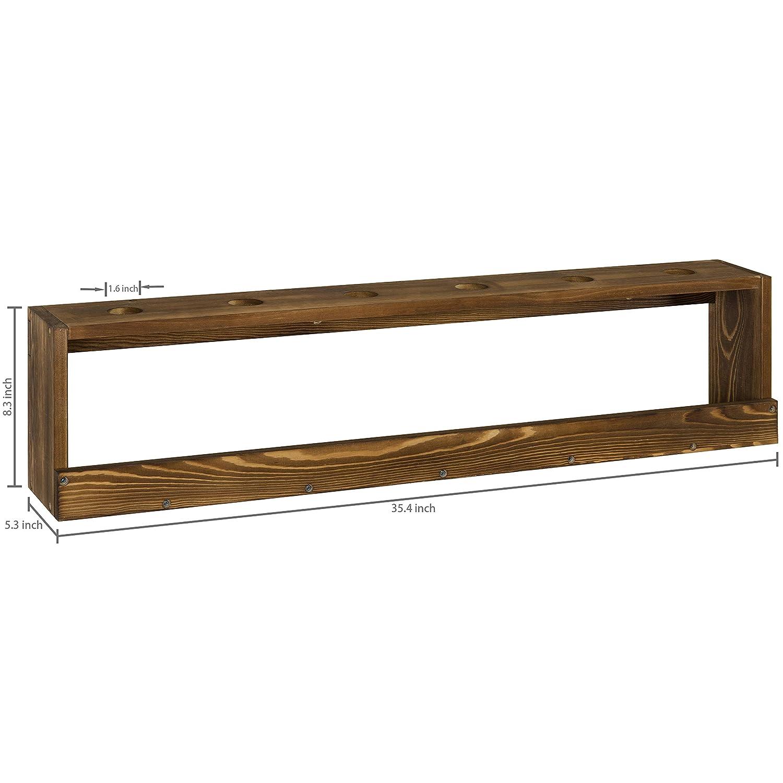 Amazon.com: MyGift - Soporte de madera rústica para colgar ...