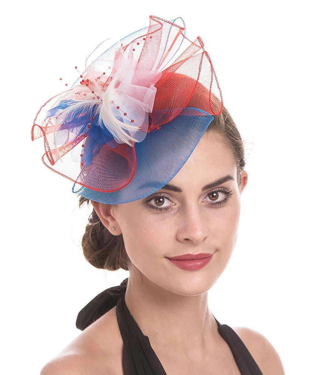 Lucky Leaf Femmes fille Bibis & cheveux Clip épingle chapeau plume mariage Cocktail Tea Party Hat