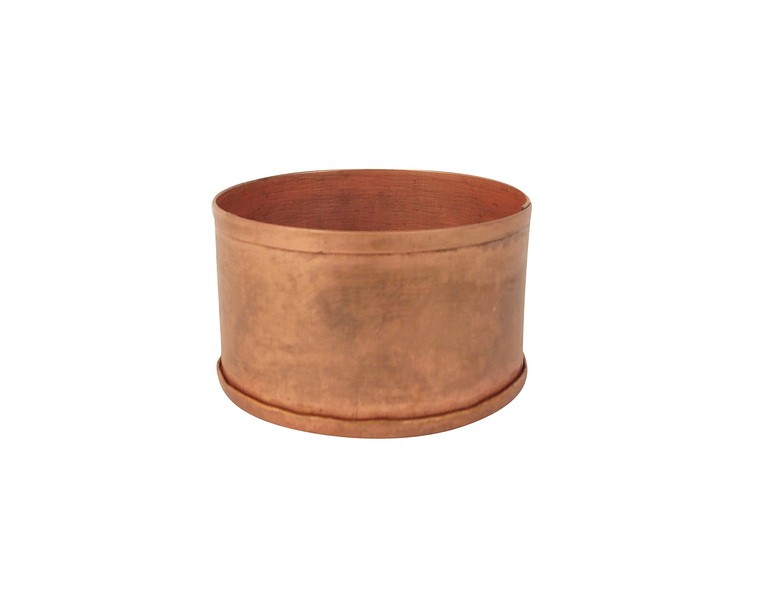 Craft Outlet 2'' x 2'' x 1.25'' Copper Candle Holder (Set of 4), Small
