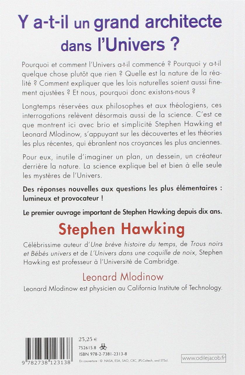 Amazon.fr - Y a-t-il un grand architecte dans l'univers ? - Stephen  Hawking, Leonard Mlodinow, Marcel Filoche - Livres