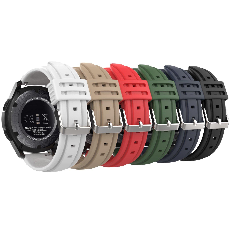 MoKo Gear S3 Watch Correa - [6-PZS] Reemplazo Suave Silicona Sport Strap Band - Multi Colores