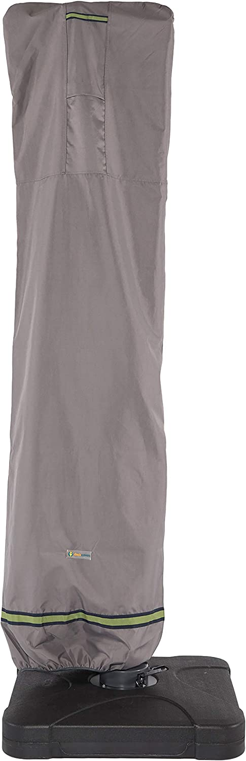 Duck Covers Soteria Rainproof Patio Offset Umbrella Cover with Installation Pole