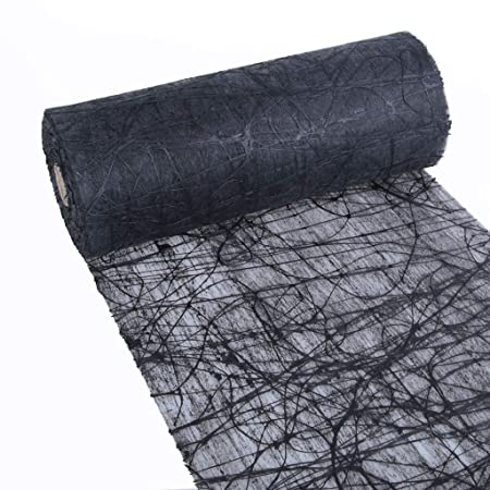 dekoweb Camino de mesa – Mesa banda – Negro – 30 cm ancho – 15 M ...