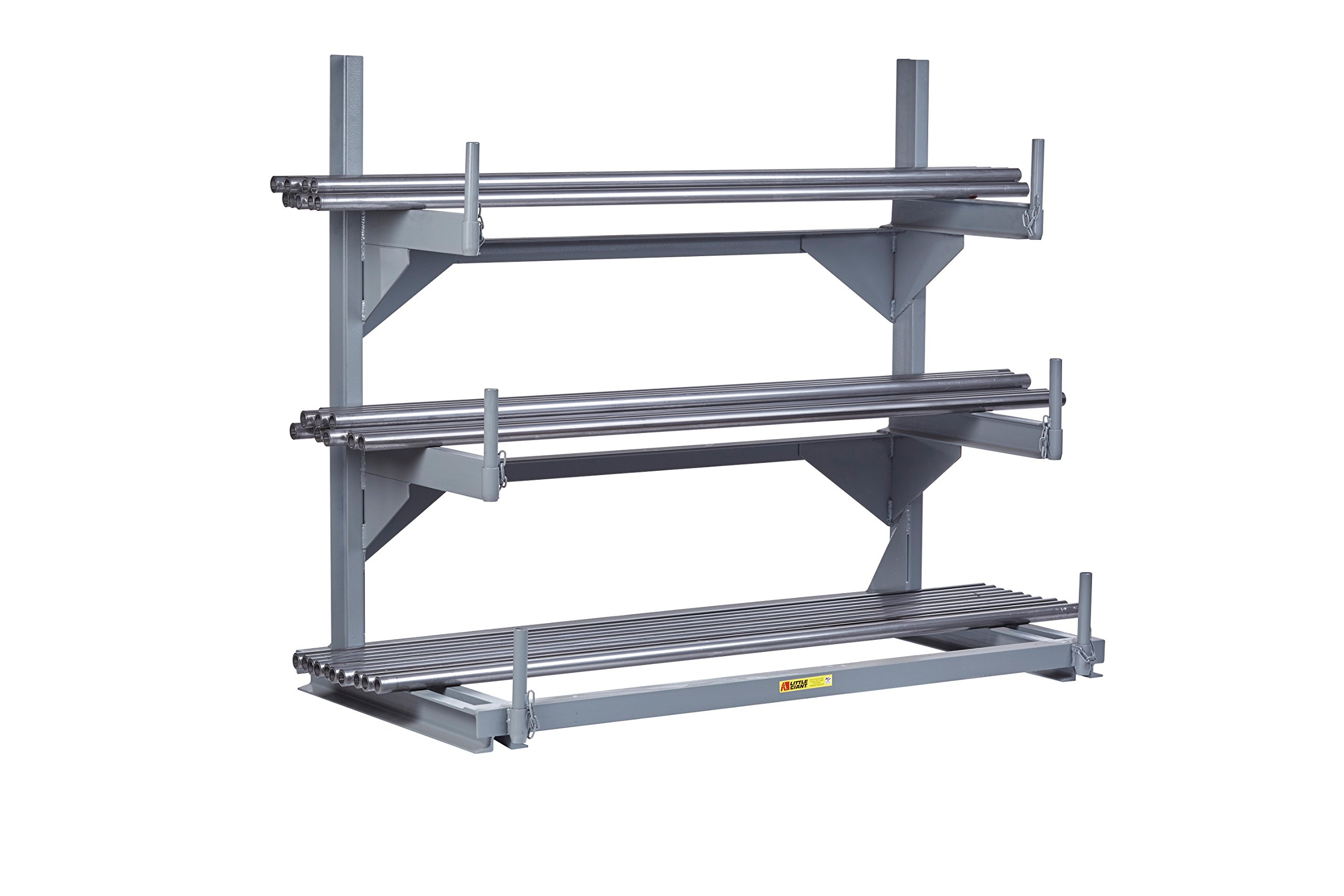 Little Giant CBR-2448 Welded Cantilever Rack, Stationary Version, 24''W x 48''L , 51'' Height, 24'' width, 4000 Pounds Load Capacity, Gray by Little Giant