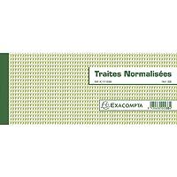 """Carnet a souche""""traites normalisees"""" 10,1x21cm - 50 feuillets"""