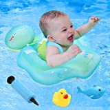 Baby Pool Float -Inflatable Swimming Pool Floats Ring with Swim Buoy Swimming Trainer for Age of 6-36 Months(Upgraded Version)