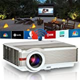 Smart Wireless Android HD Projector Outdoor Movie Home Theater 4200 Lumen LCD LED Multimedia Video Projectors Support 1080P WiFi Airplay HDMI USB 3.5mm Audio for Gaming Xbox PS4 DVD PC TV Box iPhone