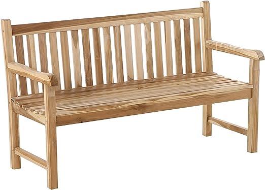 2 posti 120/cm Panca da giardino in legno teak massiccio