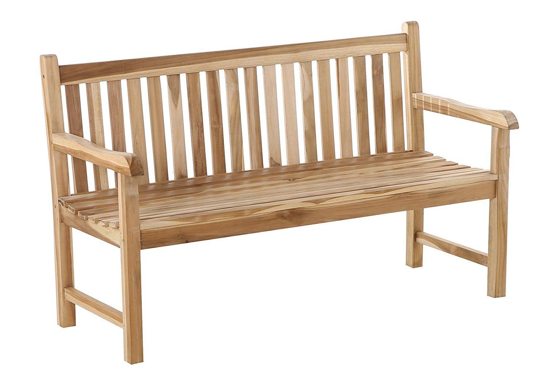Teakholzmöbel patina  Sam® Outdoor Wooden Teak Garden Bench Java, Size: Small Double (4 ...