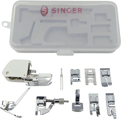 SINGER and Case Simple 3232 Portable Sewing Machine with Accessory Kit Twin Needle Including 9 Presser Feet
