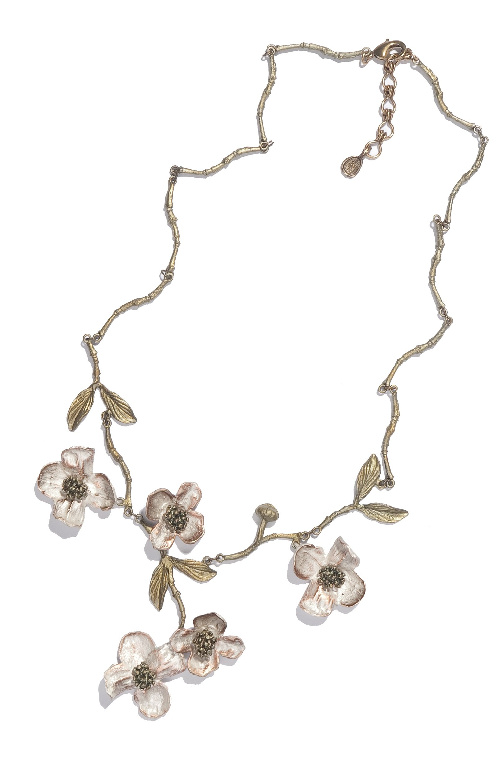 ''Dogwood'' Spray Necklace by Michael Michaud for Silver Seasons