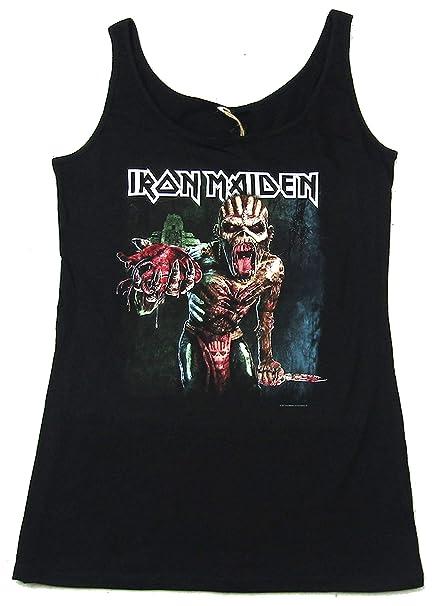 Iron Maiden Ed Heart Racer Mens Black Tank Top Muscle Shirt