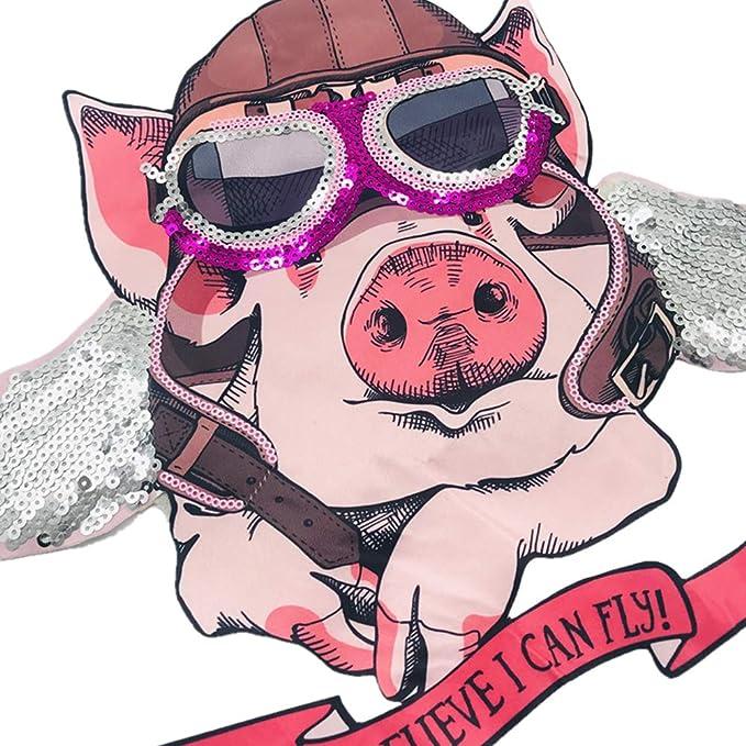 VOSAREA Schwein bestickte Patches Eisen auf Patches Tierstickerei Nähen  Patches Applikationen für Jacken Jeans Rucksäcke: Amazon.de: Bekleidung