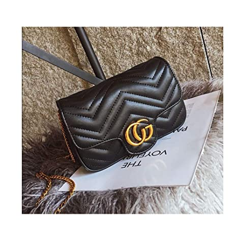 24b4b92b0dc0 Amazon.com  CG Marment matelassé Leather Super Mini Bag Small Handbags for  Women Flap Cute Crossbody Bags for Women Cell Phone Purse with Chain  -Black  ...