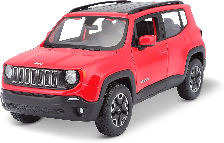Bauer Spielwaren Jeep Renegade Originalgetreues Modellauto 1 24 Türen Und Motorhaube Zum Öffnen Fertigmodell 20 Cm Rot 531282 Spielzeug