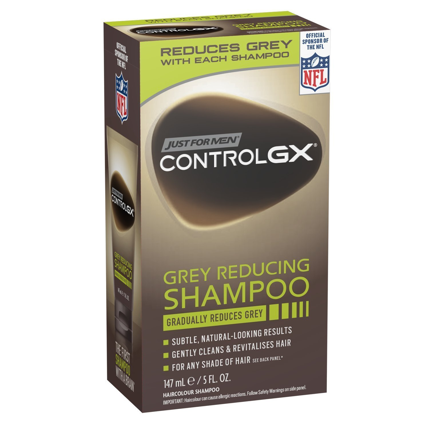 Just For Men Control Gx 5 Ounce Shampoo Grey Reducing Boxed (147ml) (6 Pack) by Just for Men