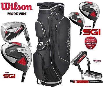 Wilson Prostaff SGI - Juego Completo de Palos de Golf para Hombre, 13 Piezas,