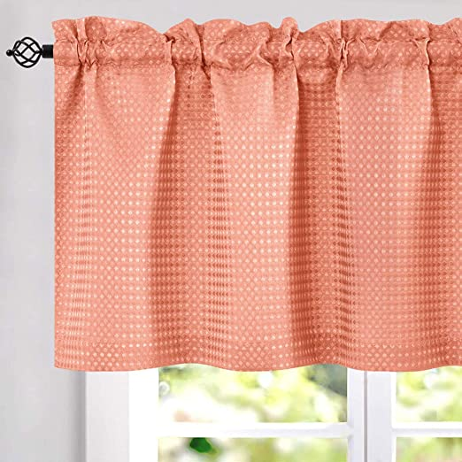 jinchan Waffle Woven Textured Valance for Bathroom Water Repellent ...