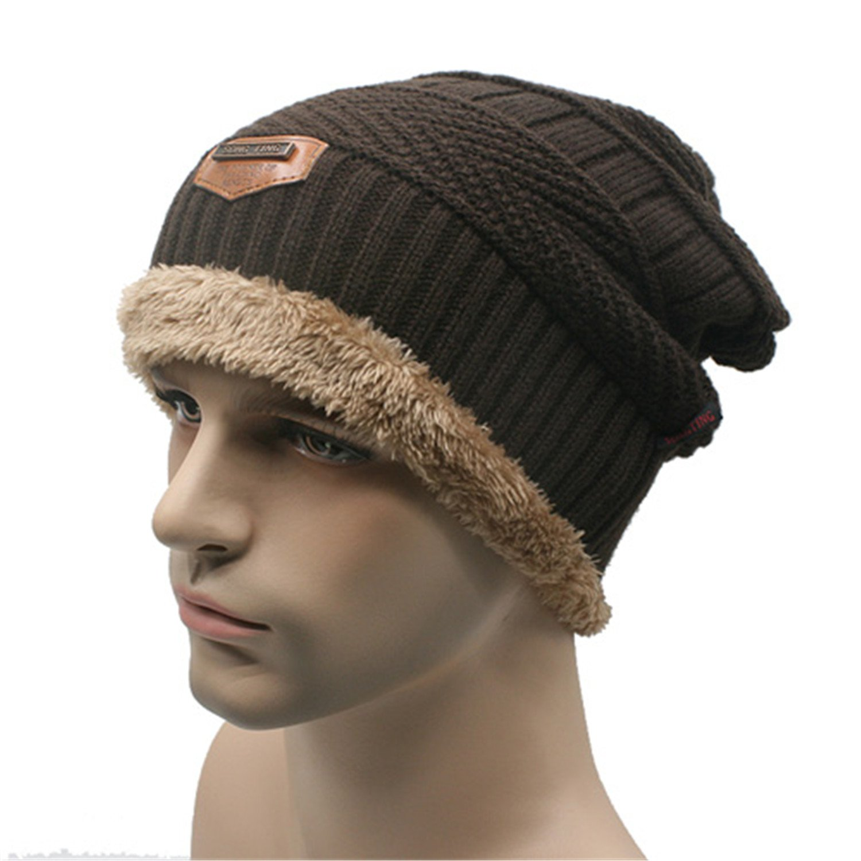 Amazon.com  Gome-z Beanies Knit Men s Winter Hat Caps Skullies Bonnet Winter  Hats For Men Women Beanie Fur Warm Baggy Wool Knitted Hat J coffee  Health  ... 97e4f356b01
