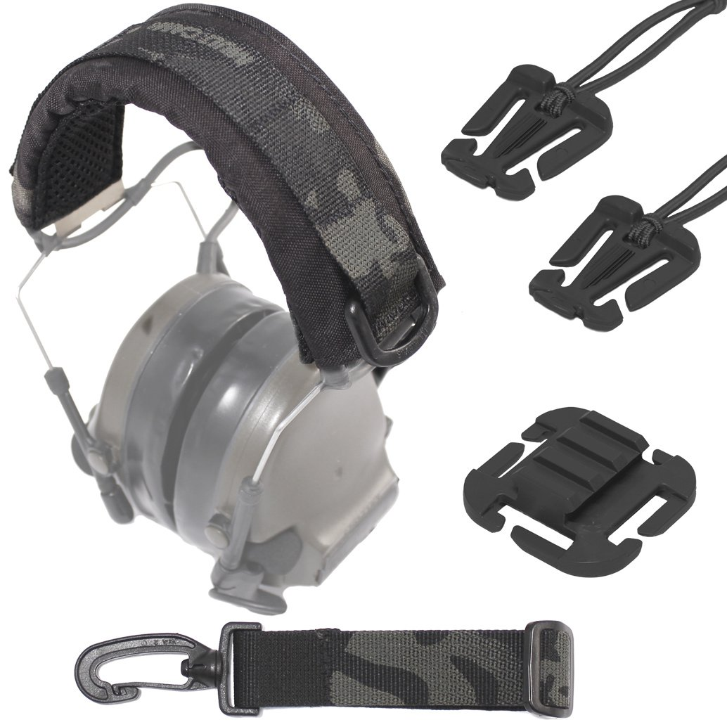 U.S. Tactical Sewing USTS Advanced Modular Headset Cover (Multicam Black + Accessory Bundle) by U.S. Tactical Sewing