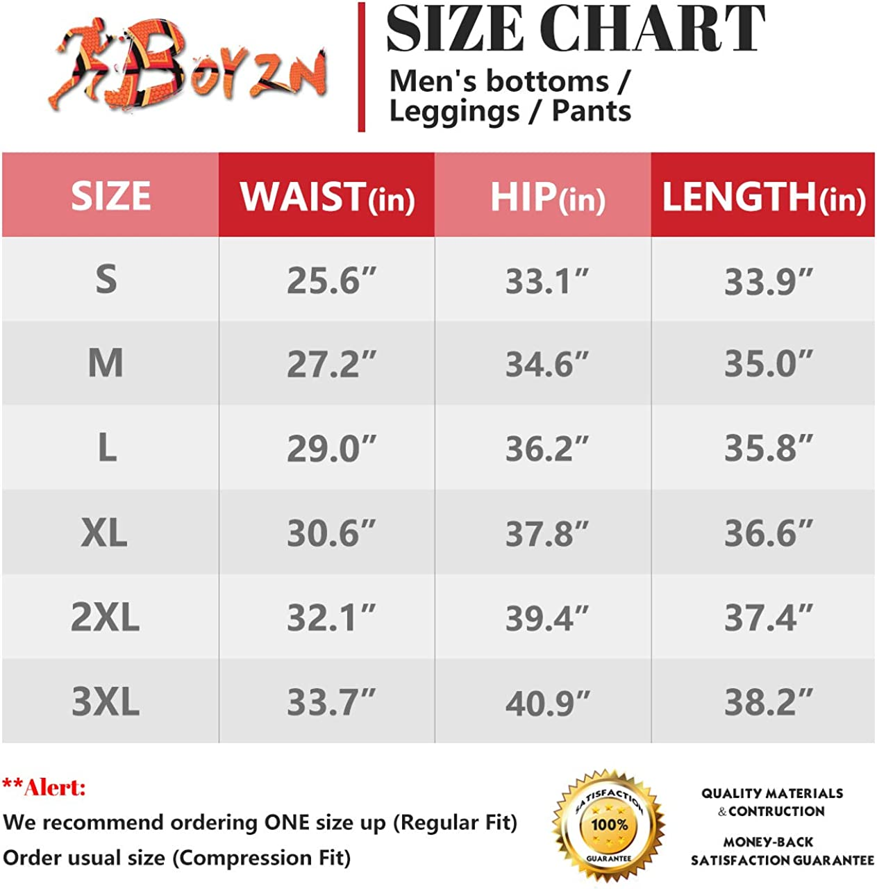 Boyzn Men's 2 Pack Sports Compression Pants Cool Dry Active Base Layer Tights Workout Running Leggings: Clothing