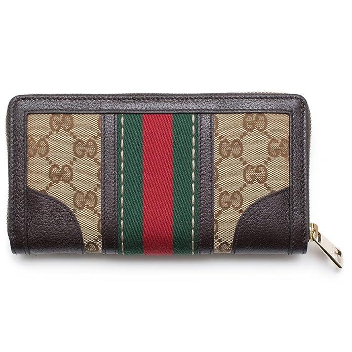 57e30e75055 Amazon.com  Gucci Bee Web Wallet Signature Star Box Leather Authentic New   Shoes
