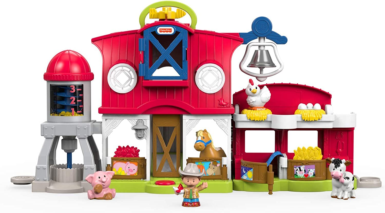Fisher-Price Little People Caring for Animals Farm Playset (Renewed)
