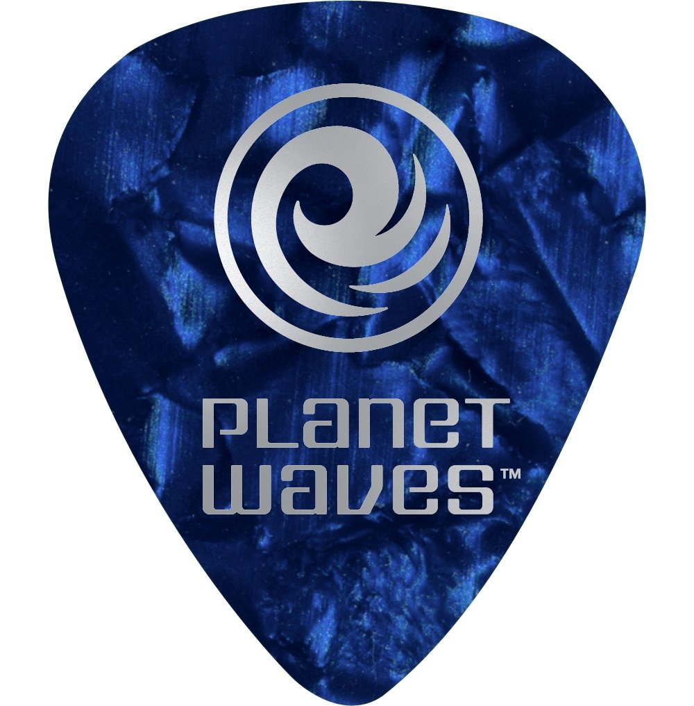 Nero DAddario 1CBKP4-10 Confezione da 10 Plettri Medi Planet Waves in Celluloide