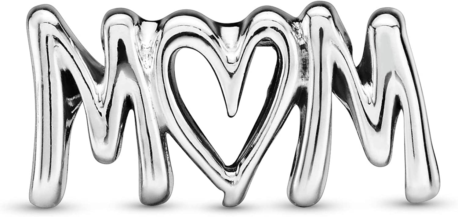 Pandora Jewelry Mom Script Sterling Silver Charm