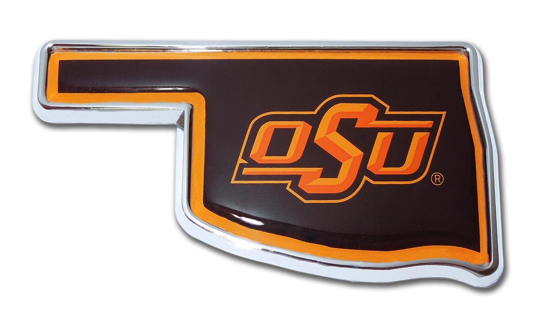 Emblem OK Shape with Color Elektroplate Oklahoma State University