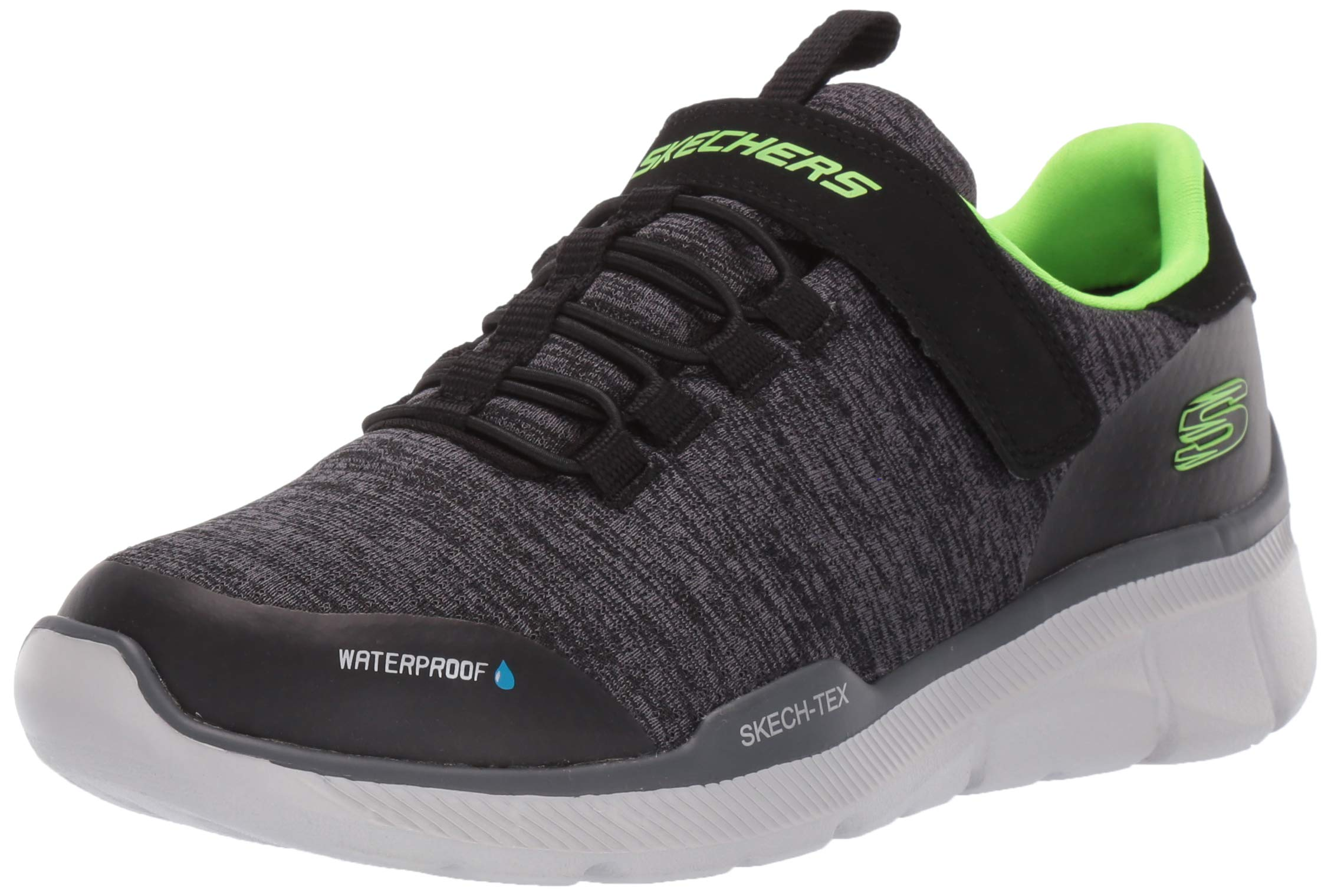 Skechers Kids Boys' Equalizer 3.0 Sneaker, Black/Charcoal, 4 Medium US Big Kid