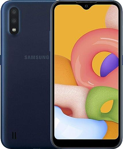 "Samsung Galaxy A01 (A015M) 32GB, Dual SIM, GSM Unlocked, 5.7"" Display Smartphone - International Version - Blue"