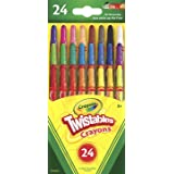 Crayola 24 Mini Twistables Crayons, 24 Bright and Classic Colours, Twist for Fun, Great for little hands