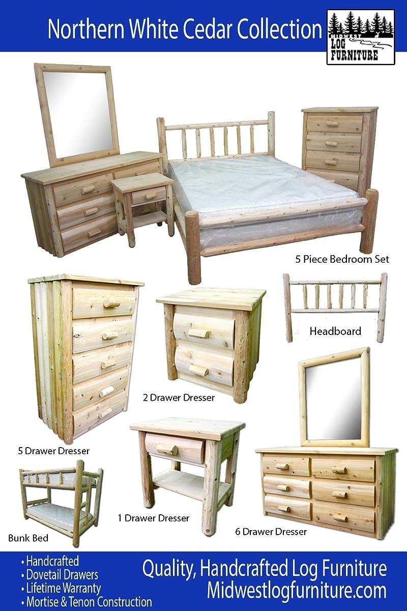 Midwest Log Furniture - Premium Log Headboard - Full