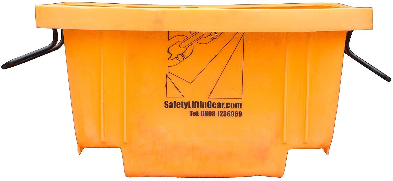 LiftinGear Heavy Duty Builders 250ltr Crane/Forklift Mortar Tub 500kg WLL SafetyLiftinGear
