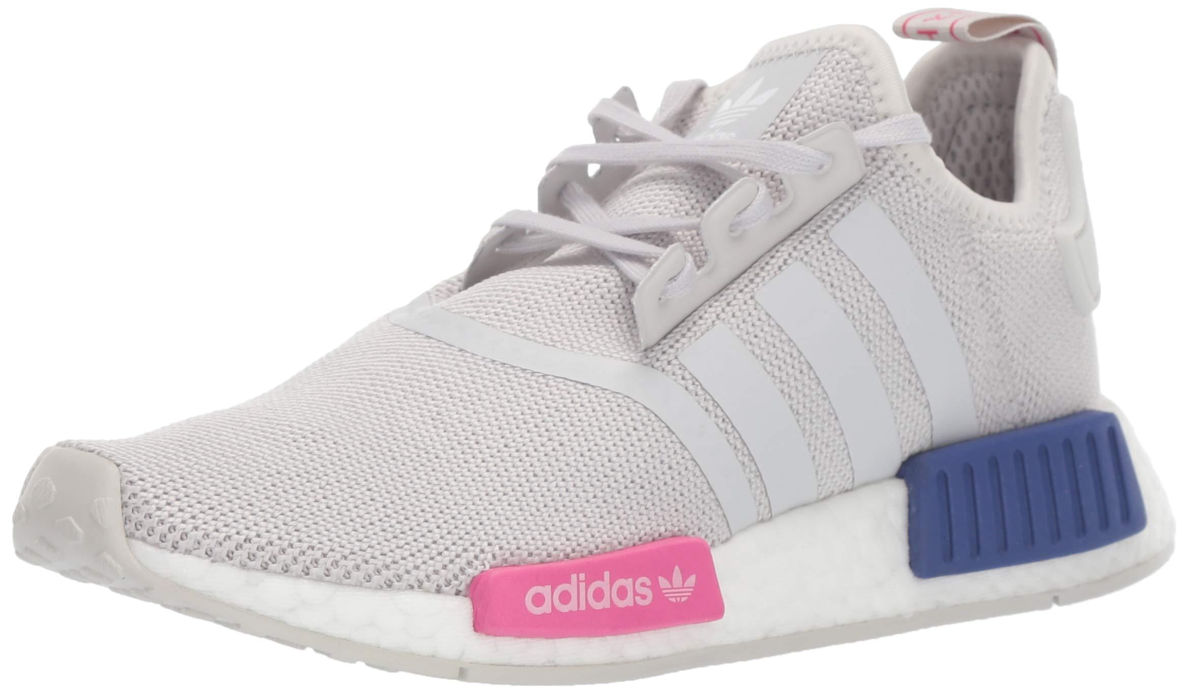 adidas Originals Unisex NMD_R1 Running Shoe, Grey/Shock Pink, 4.5 M US Big Kid by adidas Originals