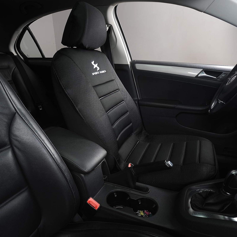 Faux Leather Van PKW Seat Covers Black EUGAD Car Seat Covers 7 Pcs Full Set Car Seat Protector