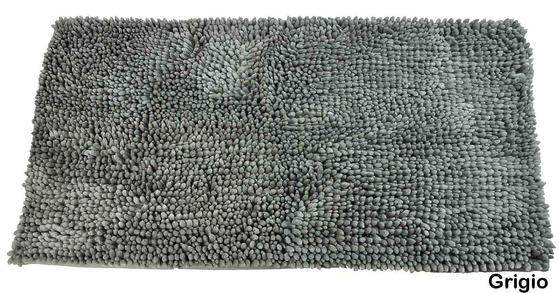 Tappeti Fai Da Te Con Fettuccia : Casa tessile tappeto da bagno antiscivolo chenille blu