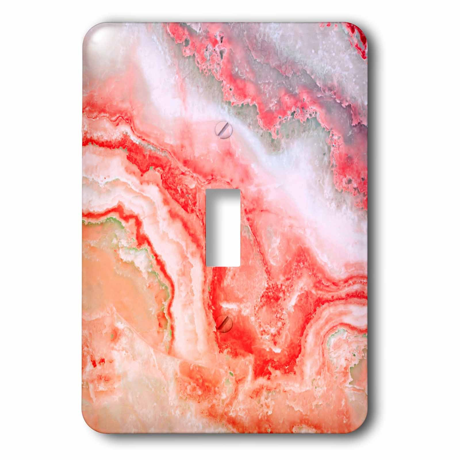 3dRose lsp_275126_1 Image of Trendy Luxury Pink Rose Gold Quartz Gray Gemstone Agate Geode Toggle Switch, Mixed