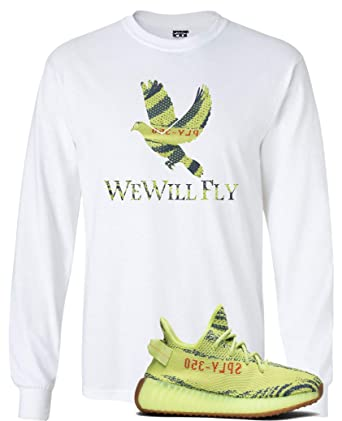 95395c08752ec We Will Fit Bird Shirt to Match The Adidas Yeezy Boost 350 V2 SEMI Frozen  Yellow YEBRA at Amazon Women s Clothing store