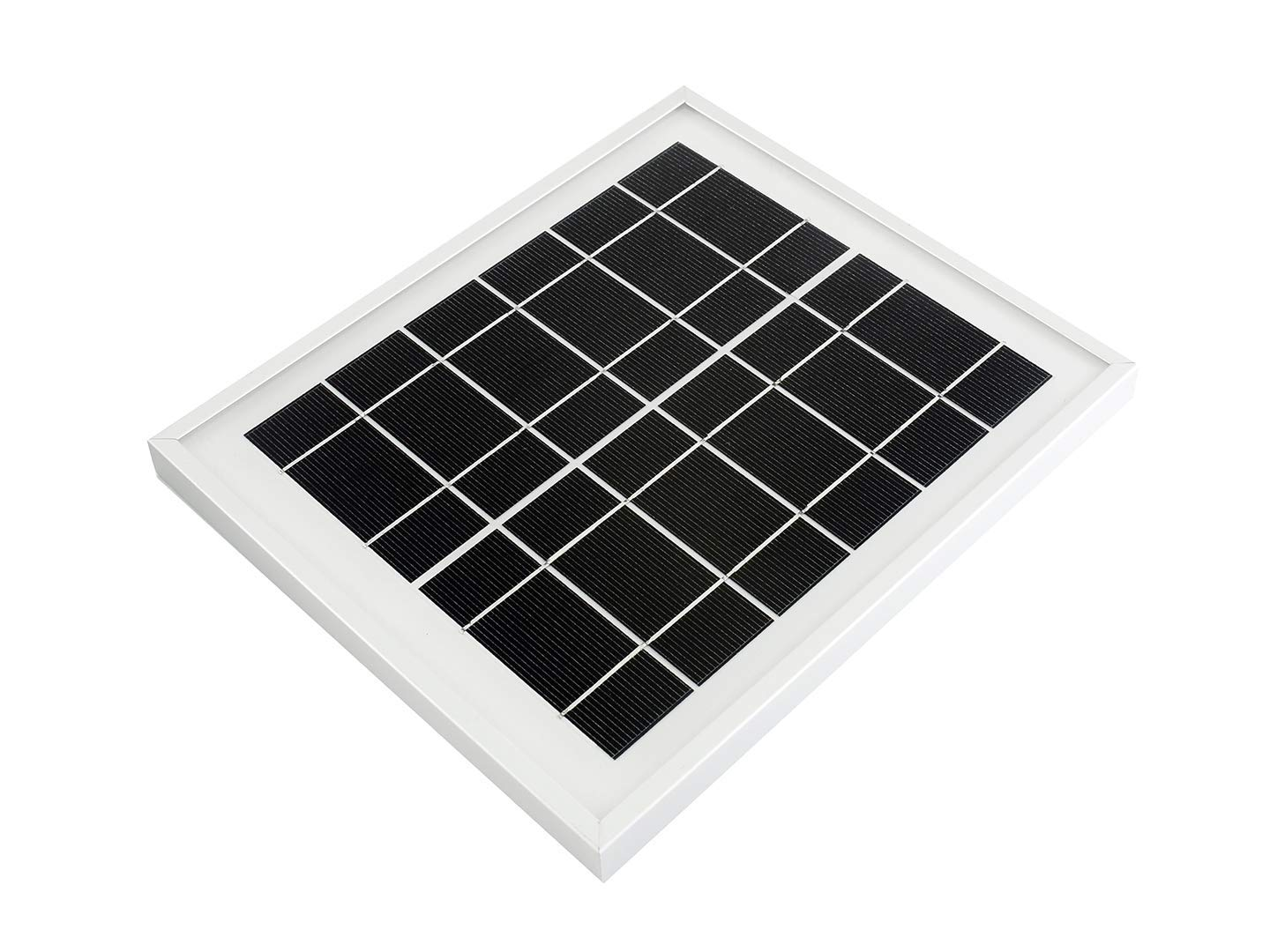 Waveshare Mini Solar Panel With 156 Monocrystalline Cell for Solar Power Manager and a Toughened Glass (6V 5W)