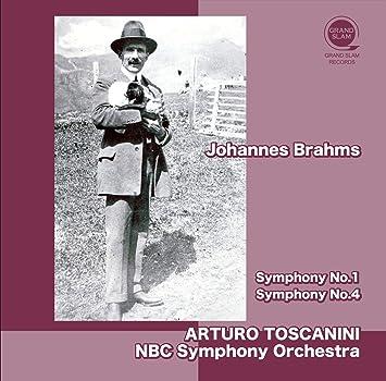 ブラームス : 交響曲 第1番&第4番 (Johannes Brahms : Symphony No.1 | Symphony No.4 / Arturo Toscanini | NBC Symphony Orchestra) [CD] [国内プレス] [日本語帯・解説付]