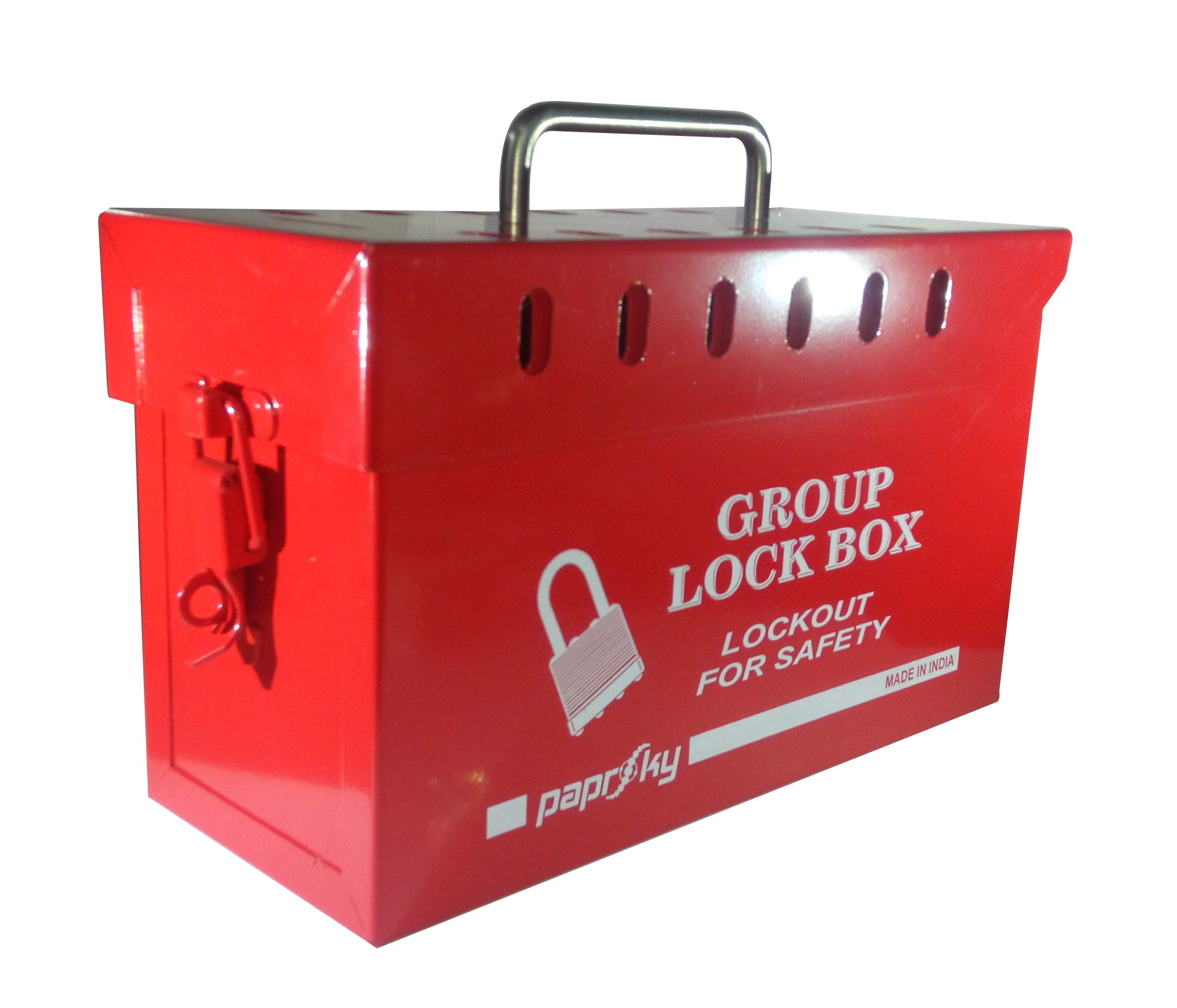 Group Lock Box - 13 Locks (RED) - PS-LOTO-GLB13