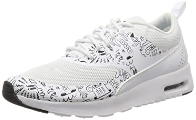 Nike Women's Wmns Air Max Thea Print, WHITE/WHITE-DK PURPLE DUST,
