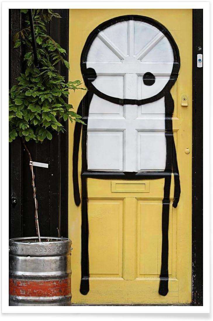 """Design /""""Streetart Gelb 2/"""" Tirages dart /& Tableaux par des Artistes ind/épendants cr/é/é par Sadia - Poster Format : Portrait Juniqe/® Affiche 20x30cm Street Art"""