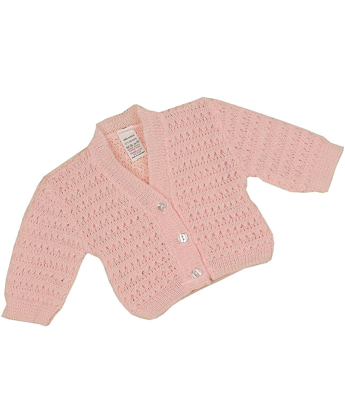 BabyPrem Baby Cardigan Jacket Lacy Acrylic Newborn-9 mths