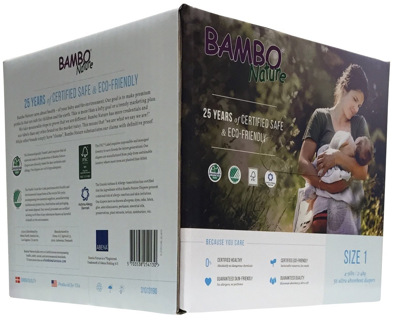 Size 6 XL Pack of 6 Bambo Nature Premium Baby Diapers 22 Count
