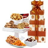 Broadway Basketeers Gourmet Celebration Gift Tower -Gift Basket