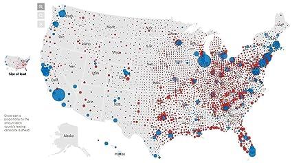 Amazon.com: Home Comforts Laminated Map - Us Map Trump County Wins ...