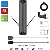 ANTAN Outdoor Antenna with Mounting Base for Attic or Roof&33FT RG6 Coax Cable-100-150 Miles Range -Support 8K 4K 1080P UHF V